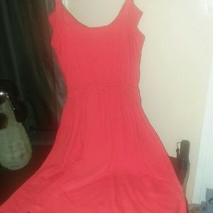 Loft, mid length flowy dress xxs